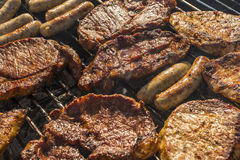 Meat barbecue grill Stock Photos