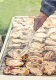 Meat on the barbecue Royalty Free Stock Photo