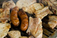 Meat barbecue, shallow DOF Stock Image