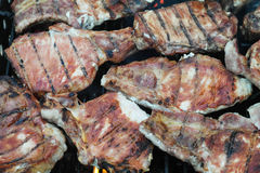Meat on barbeque Royalty Free Stock Photos