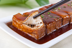 Meat and bean curd Royalty Free Stock Photography