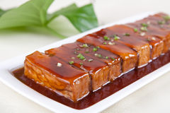 Meat and bean curd Stock Image