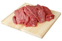 Meat - beef on a cutting board Royalty Free Stock Photos