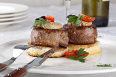 Meat beef with fua-gra Royalty Free Stock Photography