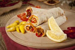 Meat beef tantuni is a kind of traditional turkish kebap. Stock image Royalty Free Stock Image