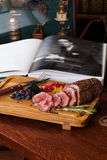Meat with berries Stock Photo