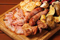 Meat board for beer Royalty Free Stock Photo