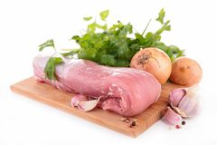 Meat on board and ingredient Stock Photography