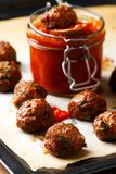 Meat bolls with sauce.style rustic. Stock Photo