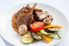 Meat and bone sauce Stock Photography