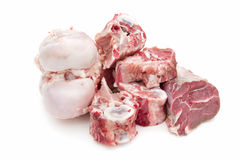 Meat, bones to make soup royalty free stock photography