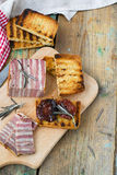 Meat bread with sun-dried tomatoes and croutons Royalty Free Stock Photography