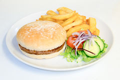 Meat burger meal Stock Photography