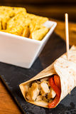 Meat burrito. Royalty Free Stock Photos