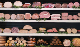 Meat in butcher Stock Image