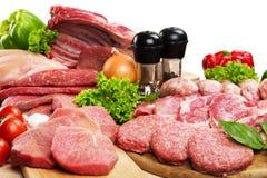 Meat. Butcher's Shop Raw Sausage Variation Freshness Chicken Stock Image