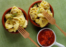 Meat Cappelletti Stock Photos