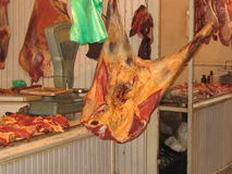 Meat carcasses Stock Photography