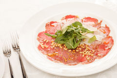 Meat Carpaccio Stock Photography
