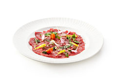 Meat Carpaccio Royalty Free Stock Images