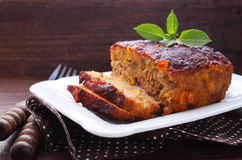 Meat casserole with cheese and corn Stock Images