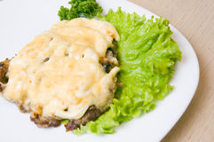 Meat with cheese Royalty Free Stock Images