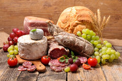 Meat and cheese Royalty Free Stock Photography