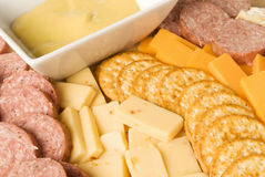 Meat and Cheese Delicatessen Platter Stock Image