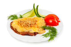 Meat with cheese and nuts Royalty Free Stock Photography