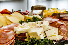 Meat and cheese party tray Royalty Free Stock Photo