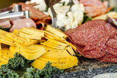 Meat and cheese party tray Stock Image
