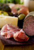 Meat and Cheese Stock Image