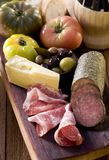 Meat and Cheese Stock Photography