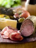 Meat and Cheese Royalty Free Stock Photos