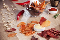 Meat chips Stock Image