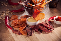 Meat chips Royalty Free Stock Photography