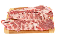 Meat on a chopping board Royalty Free Stock Image