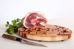 Meat on a chopping board Royalty Free Stock Photography