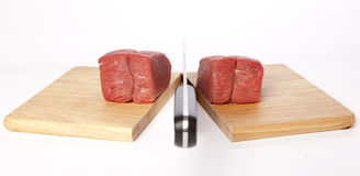 Meat cleaver Royalty Free Stock Photo
