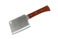 Meat Cleaver. New meat cleaver isolated on white background with clipping path stock photography