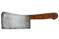 Meat cleaver. Vintage meat cleaver isolated over white background royalty free stock image