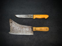 Meat Cleaver and Butcher Knife Stock Photos