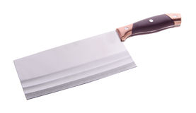 Meat cleaver close up on background. Cleaver close up on white background stock images