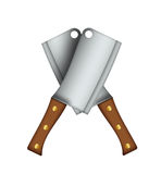 Meat cleaver illustration. Stock Image