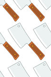 Meat cleaver pattern Royalty Free Stock Photos