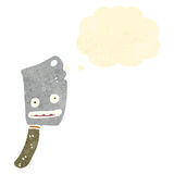 Meat cleaver retro cartoon character Stock Photo