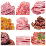 Meat collage Royalty Free Stock Photo