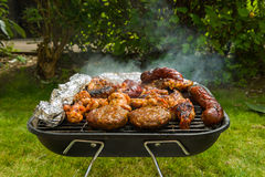 Meat collection. On a barbecue grill Royalty Free Stock Photos
