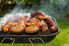 Meat collection on a bbq Royalty Free Stock Photo