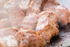 The meat is cooked Royalty Free Stock Photos
